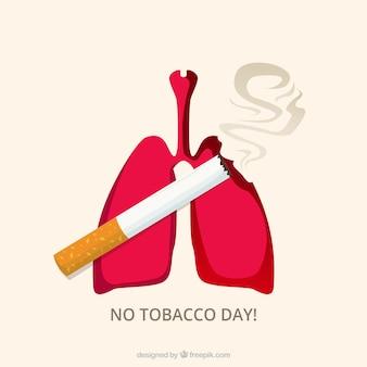 Sfondo di polmoni con la sigaretta