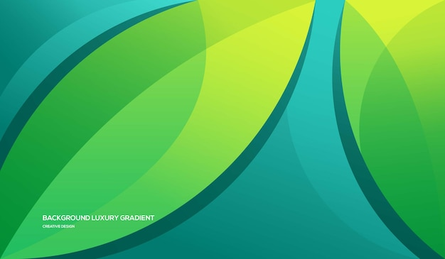 Фон роскошный зеленый градиент красочный стиль