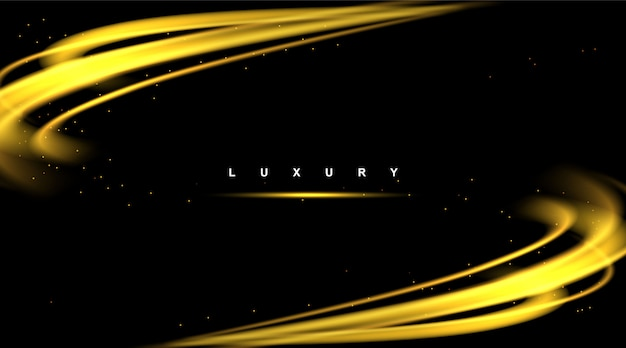Background luxury wave vector abstract modern shiny color gold design element with glitter effect.