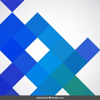 青い四角で作られた背景