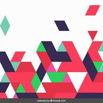 Фон сделаны с геометрическими формами