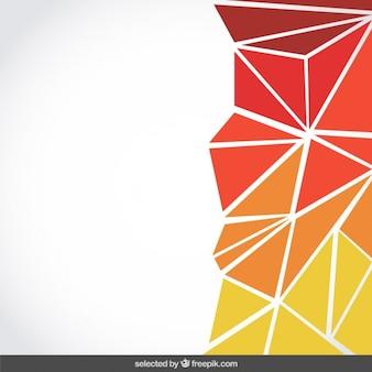 Фон из треугольников с оранжевыми