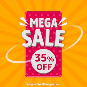 Background for mega sales
