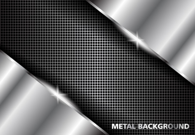Background metal silver , dark abstract silver