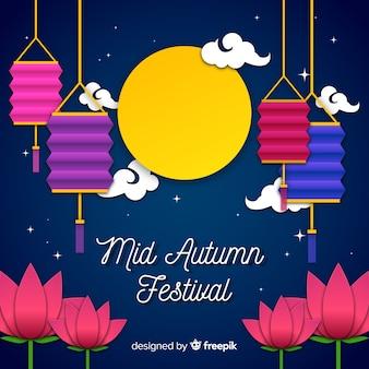 Sfondo per il festival di metà autunno