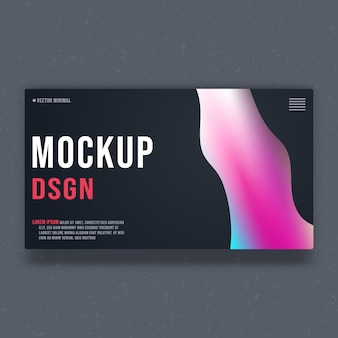 Background mockup template - minimal design