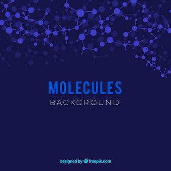 Sfondo delle molecole in disegno piatto