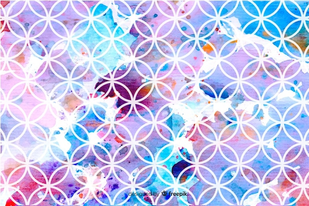 Background mosaic watercolor