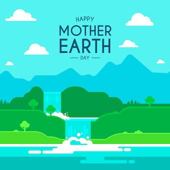Backgroundmother earth day flat design
