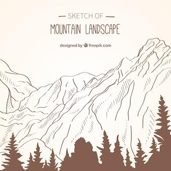 Sfondo di schizzi montagna paesaggio