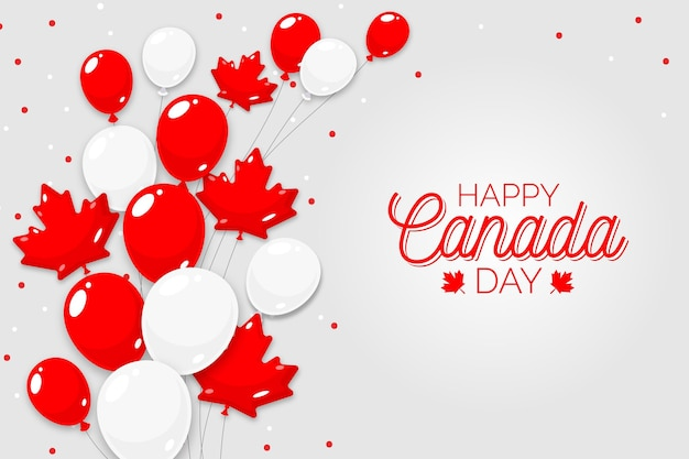 Background of national canada day flat design