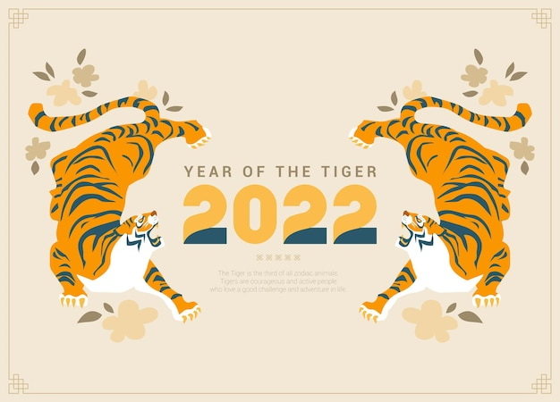 The background of a neat design celebrating the year of the tiger in 2022