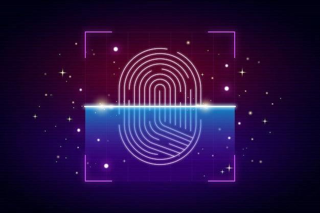 Background neon fingerprint