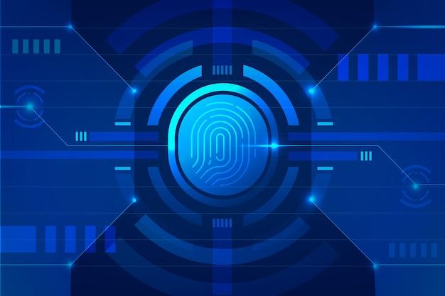 Background neon fingerprint