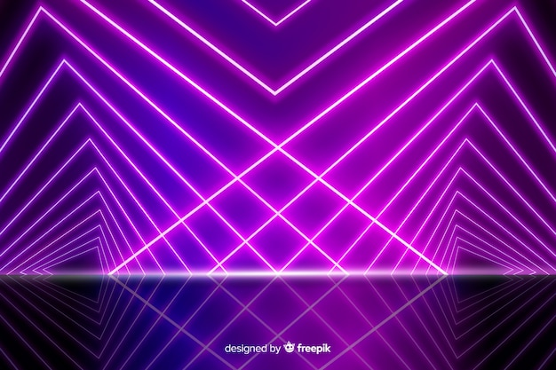 Background neon lights stage
