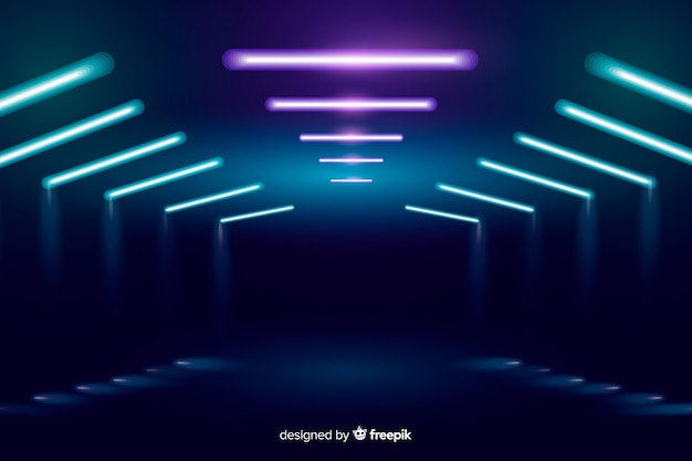 Background neon stage lights