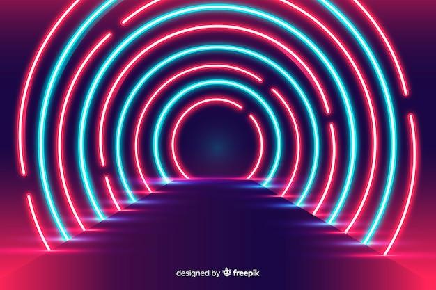 Background neon stage lights