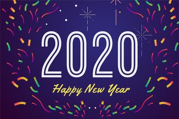 Background new year confetti