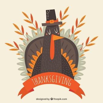 Background of nice turkey vintage thanksgiving