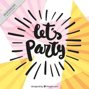 Background of abstract party shapes