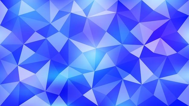 青い色の抽象的な三角形の背景。 eps10。