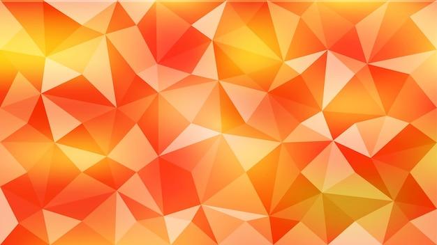 オレンジ色の抽象的な三角形の背景。 eps10。