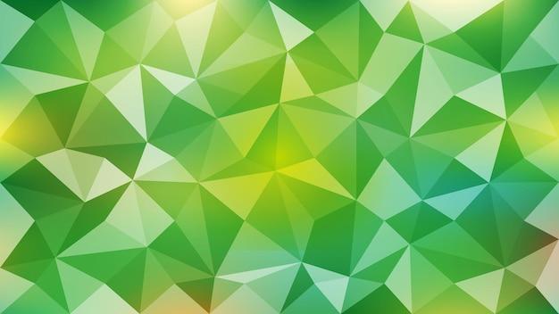 黄緑色の抽象的な三角形の背景。 eps10。