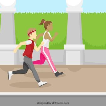 子供が走っている背景