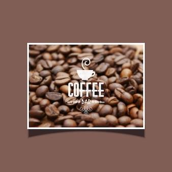 カフェバーのための理想的なコーヒー豆の背景
