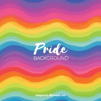 Background of colorful pride day waves