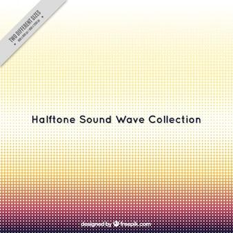 Фон звуковой волны декоративный полутонов