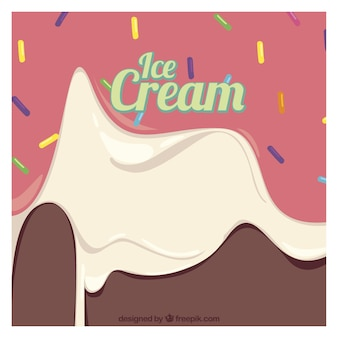 Background of delicious melted ice cream