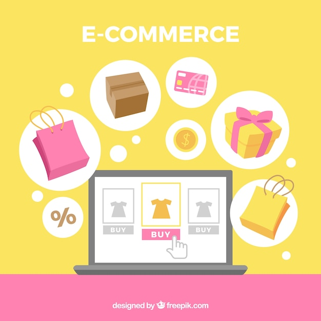 background-of-e-commerce-elements-in-fla