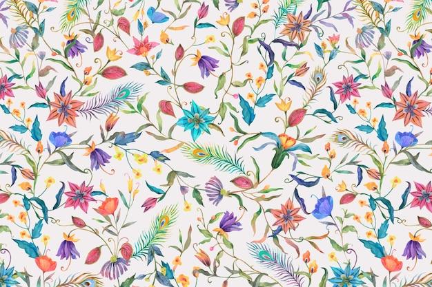 꽃 패턴의 배경