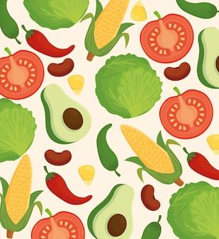 新鮮でおいしい野菜の背景