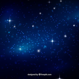 Background of galaxy in blue tones