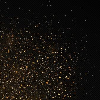 황금 색종이와 반짝이 텍스처의 배경
