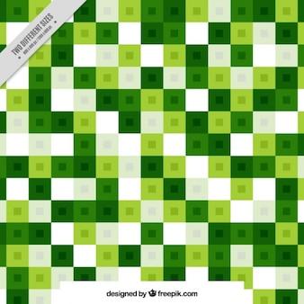 녹색과 흰색 체크 무늬의 배경