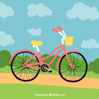 手、背景、自転車、公園で