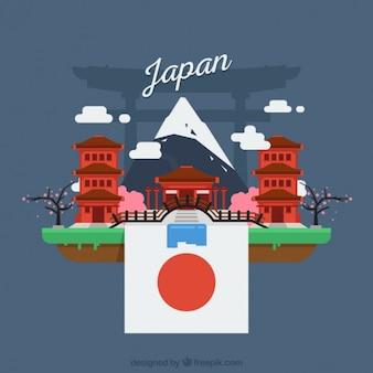 日本の風景の背景