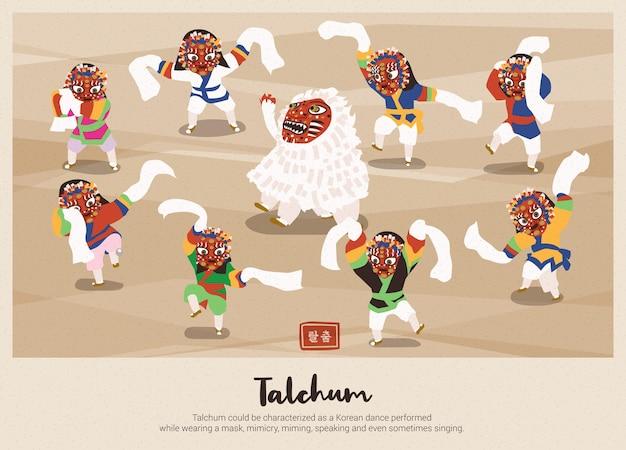한국 전통 탈춤의 배경
