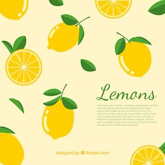 Background of lemons