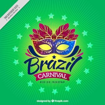Фон линий с бразильскому карнавалу маски