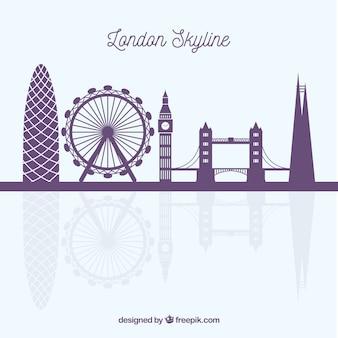 ロンドンのスカイラインの背景