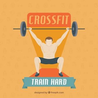 人間の背の高い体重の背景 &quot;列車のハード&quot;