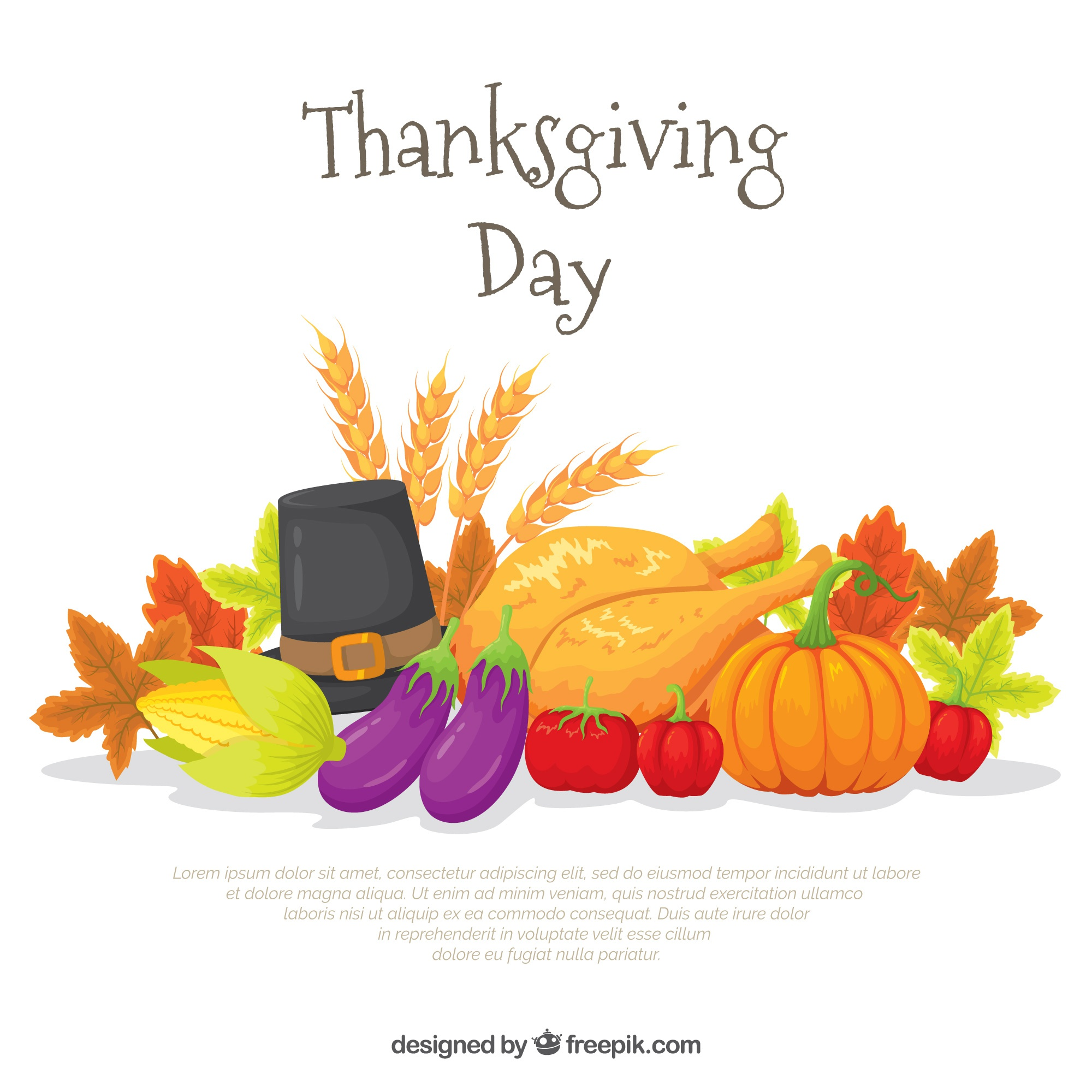 Background of natural elements of thanksgiving celebration