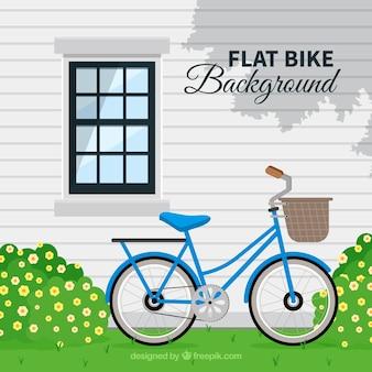 자전거와 함께 좋은 집의 배경