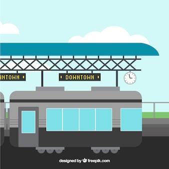 Фон открытый железнодорожный вокзал