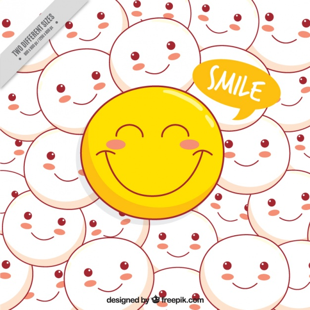 Background of positive emoticons