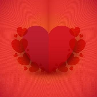 赤い心の背景